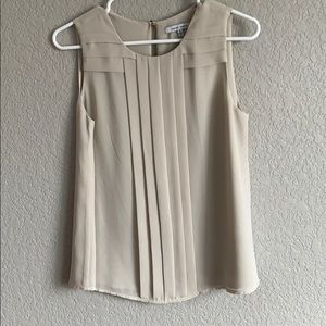 Cream tank blouse